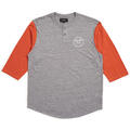 Brixton Men's Wheeler 3/4 Henley Long Sleev