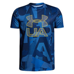 Under Armour Boy's Printed Crossfade Short Sleeve Shirt