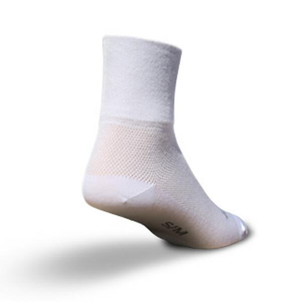 Sock Guy 3 Inch White Cycling Socks