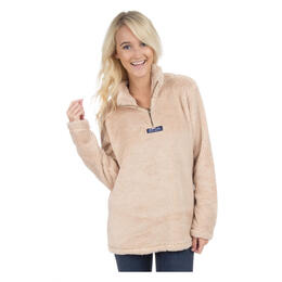 Lauren James Women's Linden Sherpa Fleece Pullover Sand
