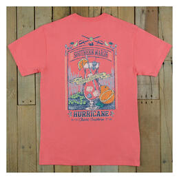 Southern Marsh Women's Cocktail Hurricane Short Sleeve Tee Shirt