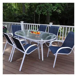 North Cape Hampton II White 7-Piece Dining Set