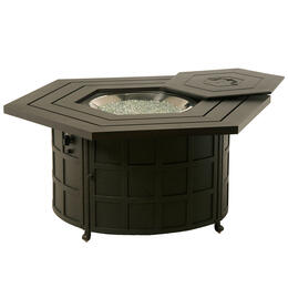 Hanamint Sherwood Hexagon Enclosed Gas Fire Pit Table