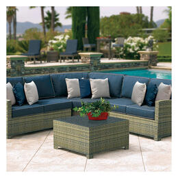 North Cape Cabo Willow 5-Piece Sectional with Fire Pit