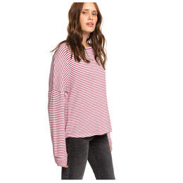 Roxy Women's Holiday Everyday Striped Long Sleeve Shirt