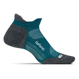 Feetures Men's Elite No Show Tab Max Cushion Running Socks Emerald