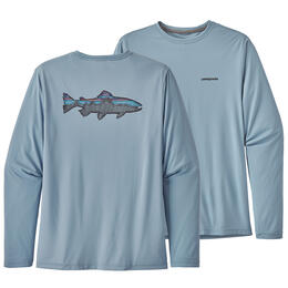 Patagonia Men's Long-Sleeve Capilene Cool Daily Fish Graphic Shirt