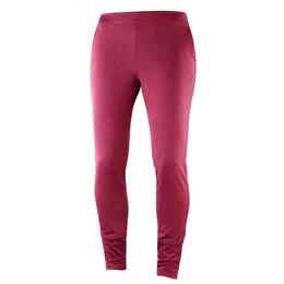 Salomon Women's Discovery Cozy Pants, Beet Red