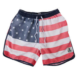 Rowdy Gentleman Men's Faded American Flag Boardshorts