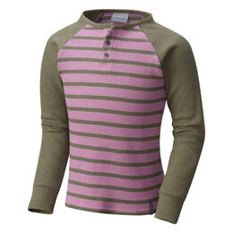 Columbia Girl's Trulli Trails Henley Long Sleeve Shirt