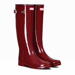 Hunter Women's Original Refined Tall Gloss Rain Boot