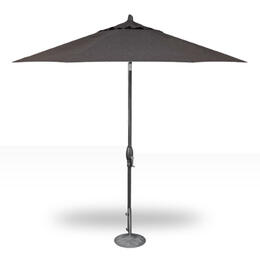 Treasure Garden 9' Auto Tilt Umbrella - Anthracite with Vine Licorice