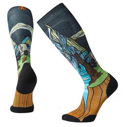 Smartwool Men's PHD Light Elite Benchetler Print Ski Socks