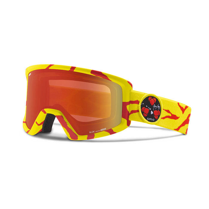 Giro Blok Snow Goggles With Amber Scarlet L