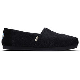Toms Women's Classics Black Felt Slip On Shoes