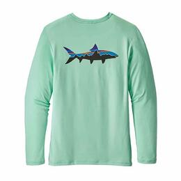 Patagonia Men's Graphic Bone Fish Tech Long Sleeve Rashguard