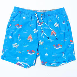 Party Pants Men's Nice To Eat You Swim Trunks