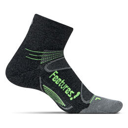 Feetures Elite Merino Cushion Quarter Length Running Socks