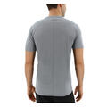 Adidas Men's Response Short Sleeve Running Shirt Back Grey