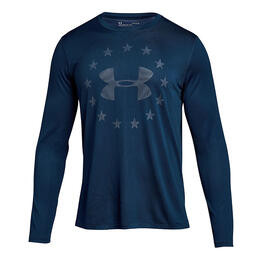 Under Armour Men's Freedom Logo Jacquard Long Sleeve T Shirt