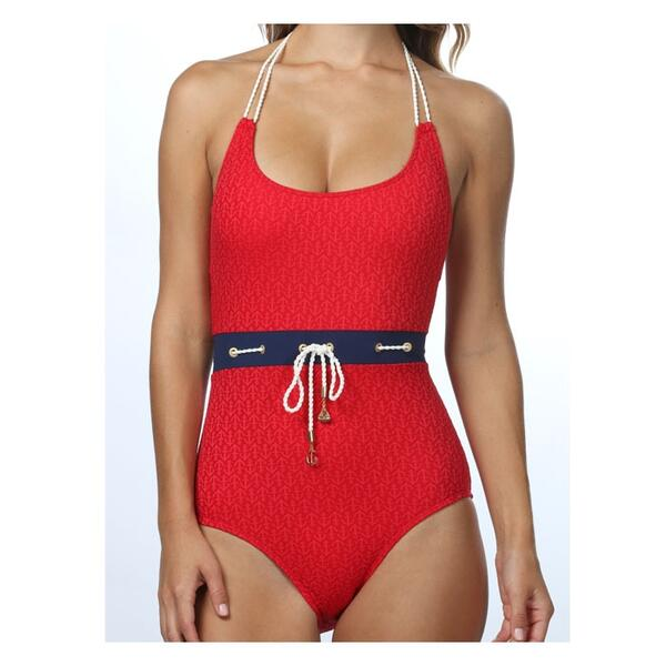 Sperry Top-sider Women's Ahoy Matey One Piece Halter Swimsuit