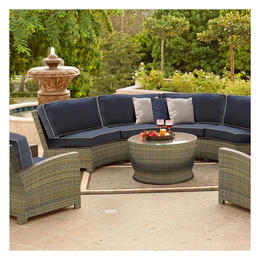 North Cape Cabo Willow 4-Piece Curved Sectional with End Table