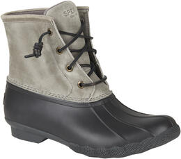 Sperry Women's Saltwater Duck Rain Boots Grey