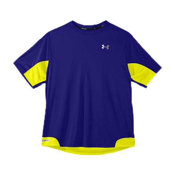 Under Armour Men's Heatgear Flyweight Run Short Sleeve Top