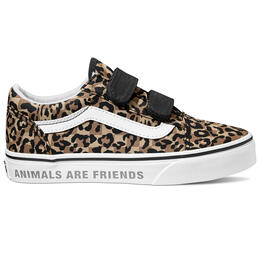 Vans Girl's Animal Checkerboard Old Skool V Shoes