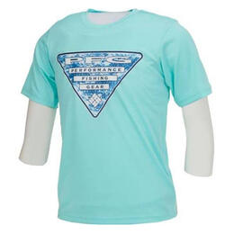Columbia Boy's Pfg Triangle Digicamo T Shirt