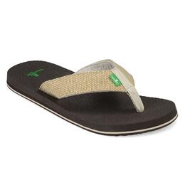 Sanuk Men's Yogi 4 Casual Sandals Natural Weave