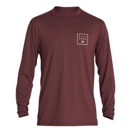 Billabong Men's Stacked Long Sleeve Rashguard Port
