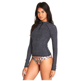 Billabong Women's Wild Tropic Halfzip Rashguard Top
