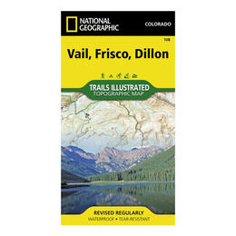 National Geographic Vail, Dillon, Frisco Illustrated Trails Topographic Map