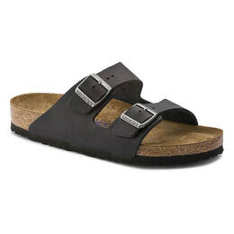 Birkenstock Men's Arizona Oiled Leather Casual Sandals Black