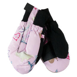 Obermeyer Toddler Girl's Thumbs Up Print Insulated Ski Mitten '17