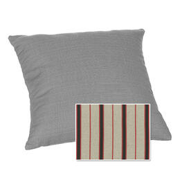 Casual Cushion Corp. 15x15 Throw Pillow - Dapper Grey Stripe