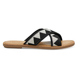Toms Women's Viv Sandals Black Geometric