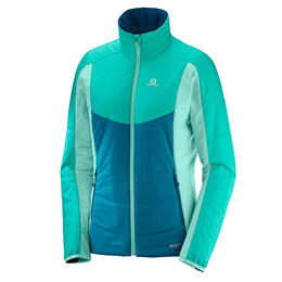 Salomon Women's Drifter Mid Jacket, Deep Lagoon/Waterfall