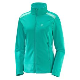 Salomon Women's Discovery Light Full-Zip Baselayer Top, Waterfall