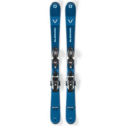 Blizzard Boy's Rustler Twin Jr. Skis with FDT 7 WB Bindings '20