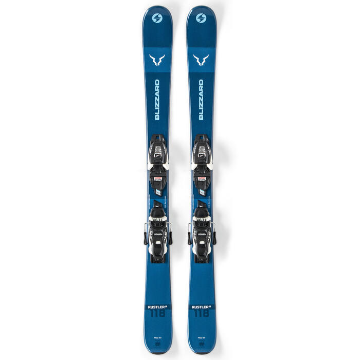 Blizzard Boy's Rustler Twin Jr. Skis with F