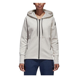 Adidas Women's ID Stadium Zip Up Hoodie Stadium Heather