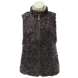 Dylan By True Grit Women's Soft Shearling Tipped Pile Vest