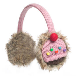 Knitwits Strawberry Cupcake Earmuffs