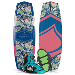 Liquid Force Women's Angel Wakeboard '19 with Plush Bindings