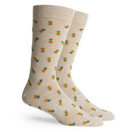 Richer Poorer Men's Pineapple Crew Socks