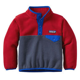 Patagonia Baby Lightweight Synchilla Snap-T Pullover - Smolder Blue