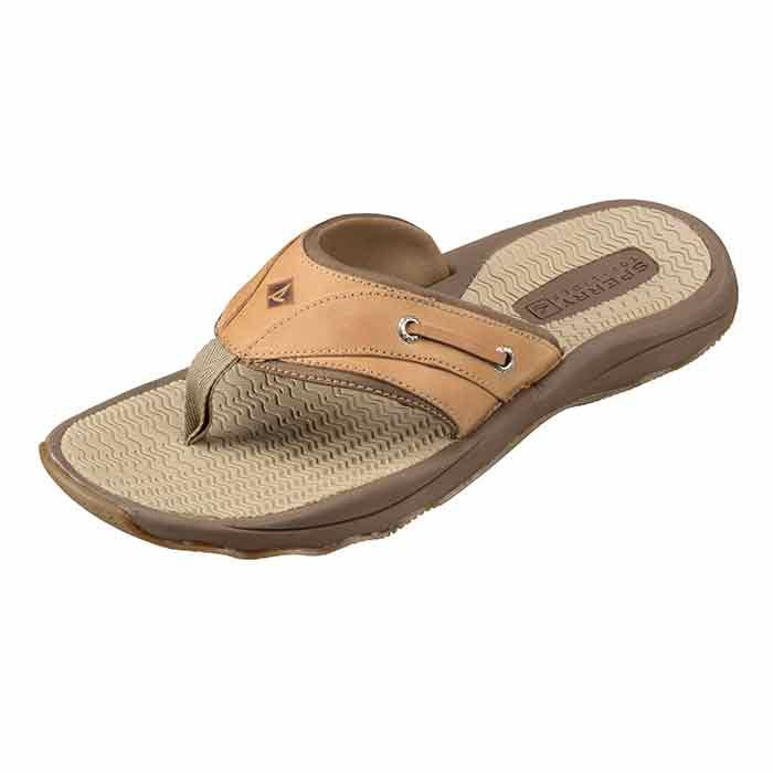 Sperry Men's Outer Banks Thong Tan Flip Flo