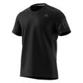 Adidas Men's Response Short Sleeve Running Shirt Front Black
